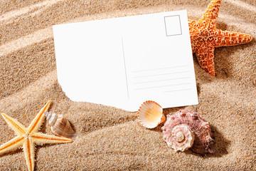 postcard on a beach
