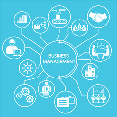 business manangement network info graphics