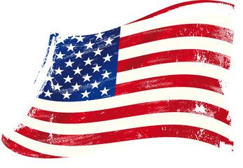 USA gruge flag