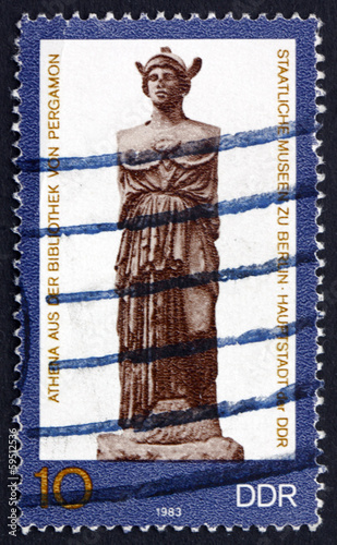 Postage stamp GDR 1983 Statue of Athena, Greek Goddess