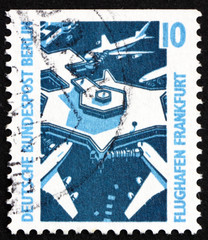 Postage stamp Germany 1988 Frankfurt Airport