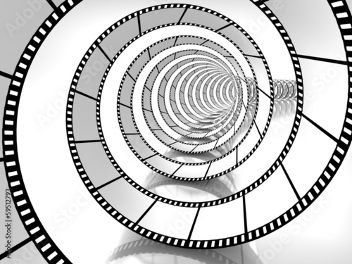 movie strip spiral
