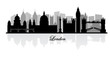 vector london skyline silhouette