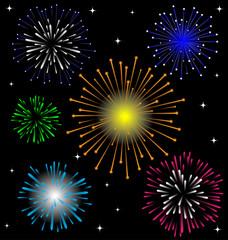 Colorful Firework vector set