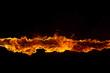 Leinwandbild Motiv Blazing flames on black background