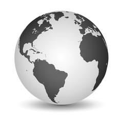 White and Black globe