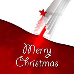 Biglietto di Natale, albero di Natale stella