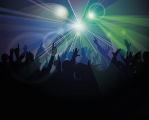 People having fun at nightclub