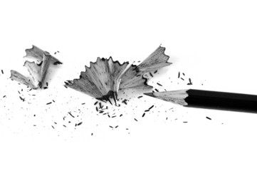 sharpened pencil and shavings