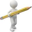 Männchen mit Bleistift