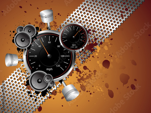 Racing Speed Grunge Background - Vector