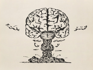 """Brain launch"". Sketch."