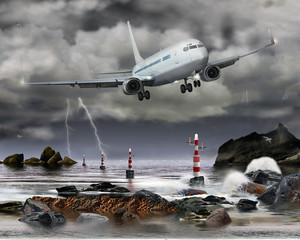 Gefährliche Landung bei Gewitter