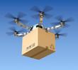 Leinwanddruck Bild - Delivery drone