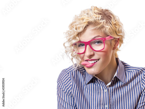 Woman sticking out tongues and mocking each