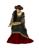 A Woman Reading a Book, 3d CG