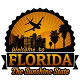 Fototapety Florida travel label or stamp