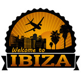 Ibiza travel label or stamp