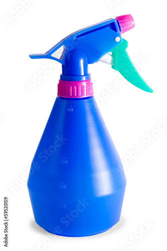 blue plastic sprayer isolated