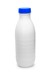 bottle plastic milk isolated on white box,