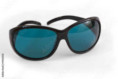 blue sunglasses spectacles sun isolated on white