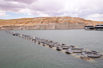 Limit of truck tires in the  in Lake Powell