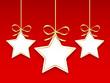 Etoiles de Noël (décorations étiquettes vignettes icônes dorées)