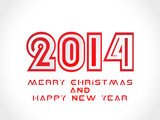 Vector Merry Christmas and Happy New Year card design. invitatio