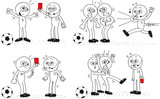 Referee and Soccer Player Set