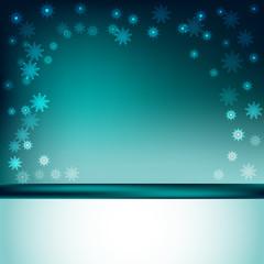 зимний новогодний фон с снежинками