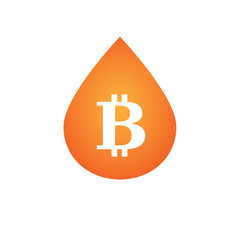 Drop with a bitcoin icon