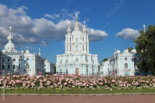 The Smolny Cathedral, Saint Petersburg, Russia