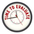 Time to evaluate (Время оценивать). Часы с надписью