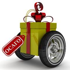 ОСАГО в подарок. Подарочная коробка на колесах