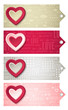 valentines  labels with  decorative hearts, vector