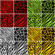 Christmas Colored Animal Print Backgrounds