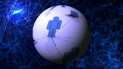Mundo conectado. Redes Sociales. Social Media