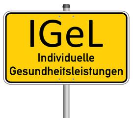 IGEL Gesundheit Schild  #131218-svg06