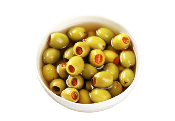 Green olives stuffed with pimento