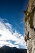 Rock climber on a rock face.