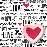 background with  red valentine heart and wishes text,  vector