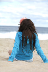 Teenager at the beach.