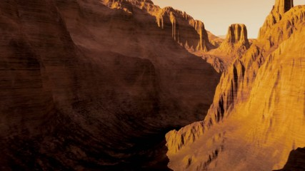 (1300a) Canyonlands Barren Alien Sci-Fi Planet Animation Loop