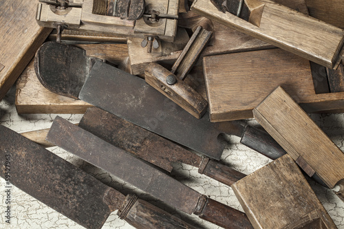 Antique carpenter tool (Still life)