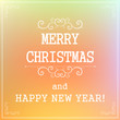 Typographic New year and Christmas holiday sale label elements,