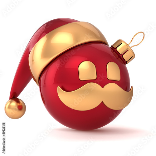 Christmas ball avatar New Year bauble Santa Claus hat
