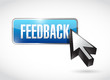 feedback button illustration design