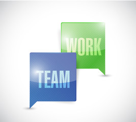 team work communication illustration design
