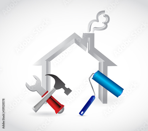 home tools illustration design