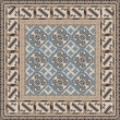 Design for square carpet in Oriental style